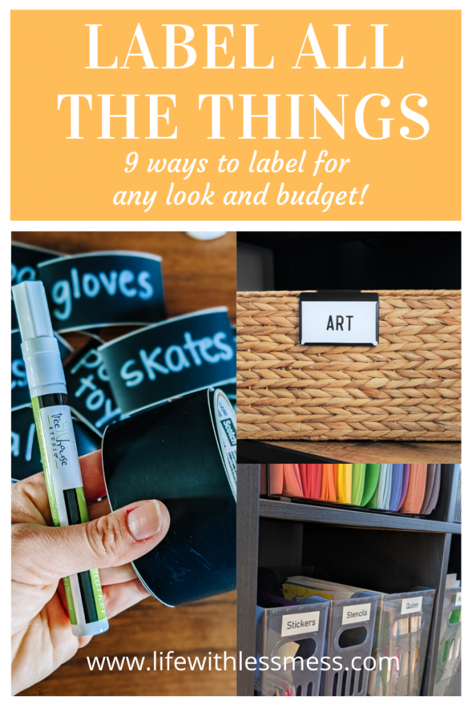 Surprising benefits to labeling and 9 Labels for organizing your space.