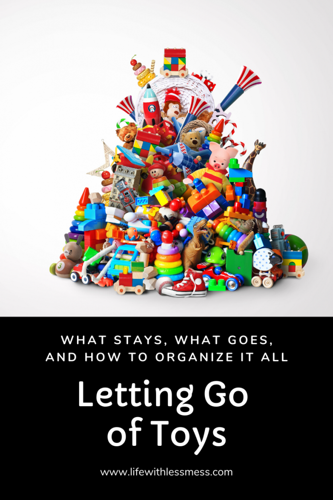 Purging & organizing toys can be overwhelming, especially if your kids have a lot. This step by step guide will help you get it done once and for all.