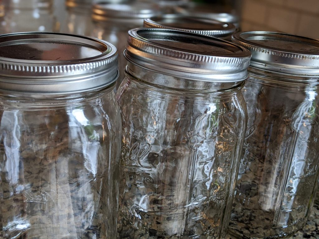 Mason jars are perfect for refrigerator dill pickles!