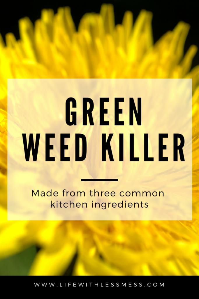 Skip the Round Up. Use this green weed killer recipe with just three common kitchen ingredients to tackle the weeds springing up all over your garden.