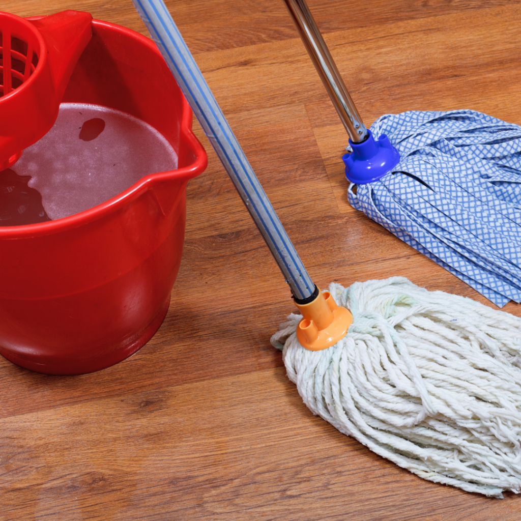 When water spills, there's less mess and little need to mop.