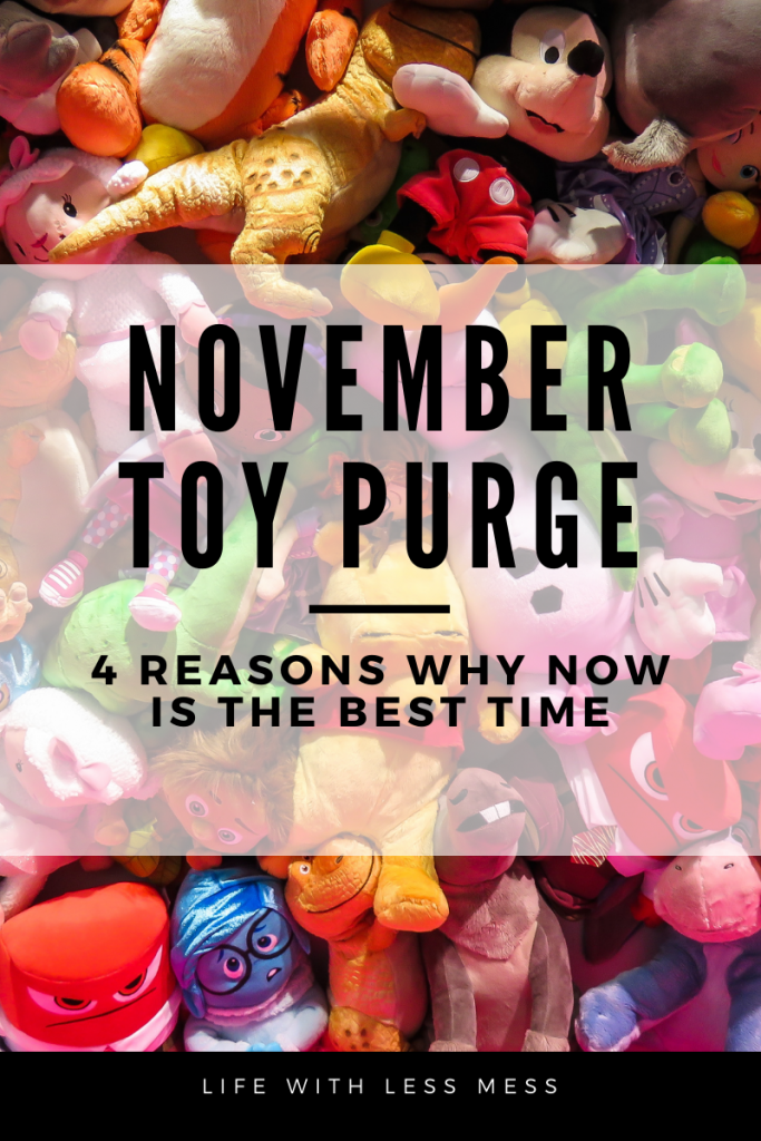 Why a November Toy Purge is the perfect way to prepare for Christmas
