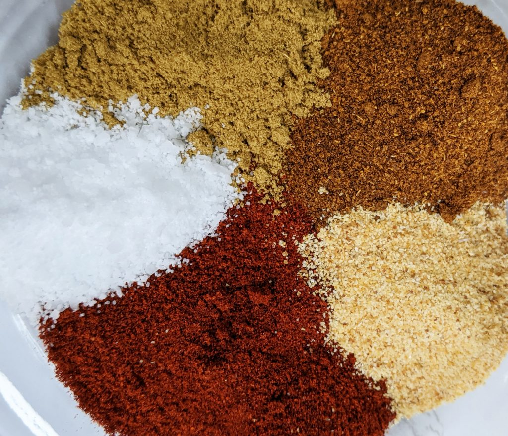 This simple taco seasoning homemade only uses five spices and is our family's favorite.