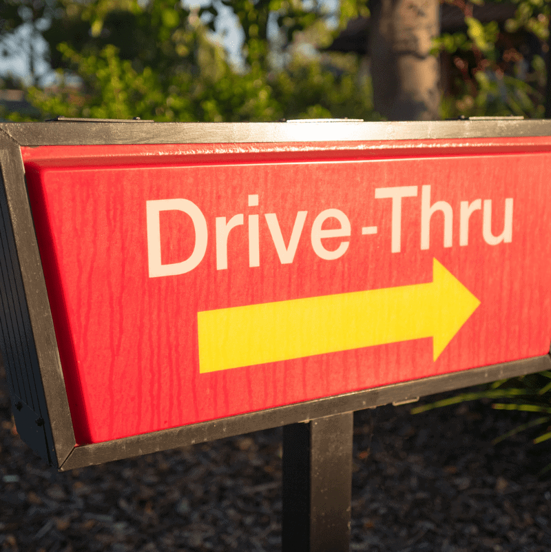 Want to know how to stop spending money? Identify weak spots in your routine like hitting the drive thru.