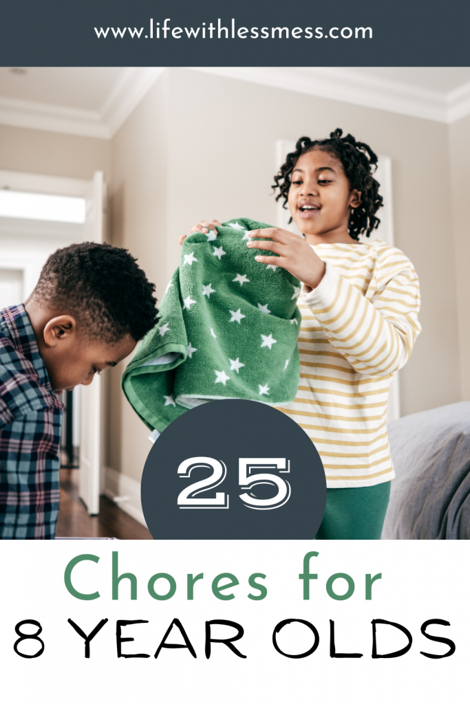 28 age-appropriate chores for 8 year olds to get them helping out around the house