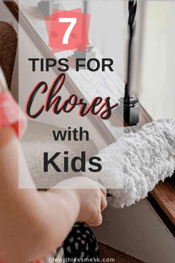 Tips and Tricks for helping your kids succeed when doing chores.