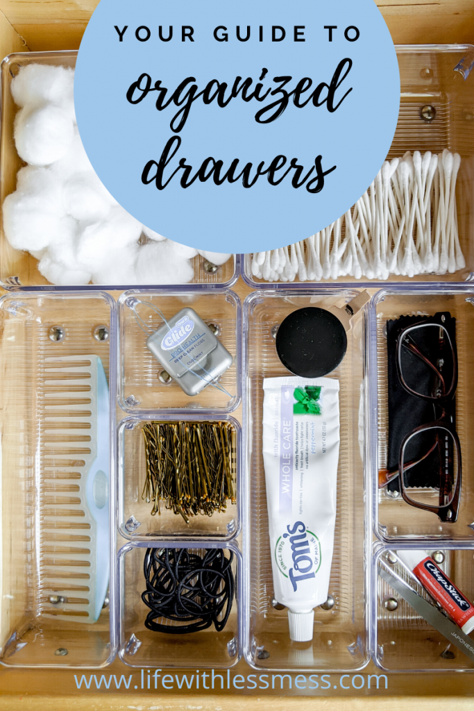 Everything you need to know about bathroom drawer organization.