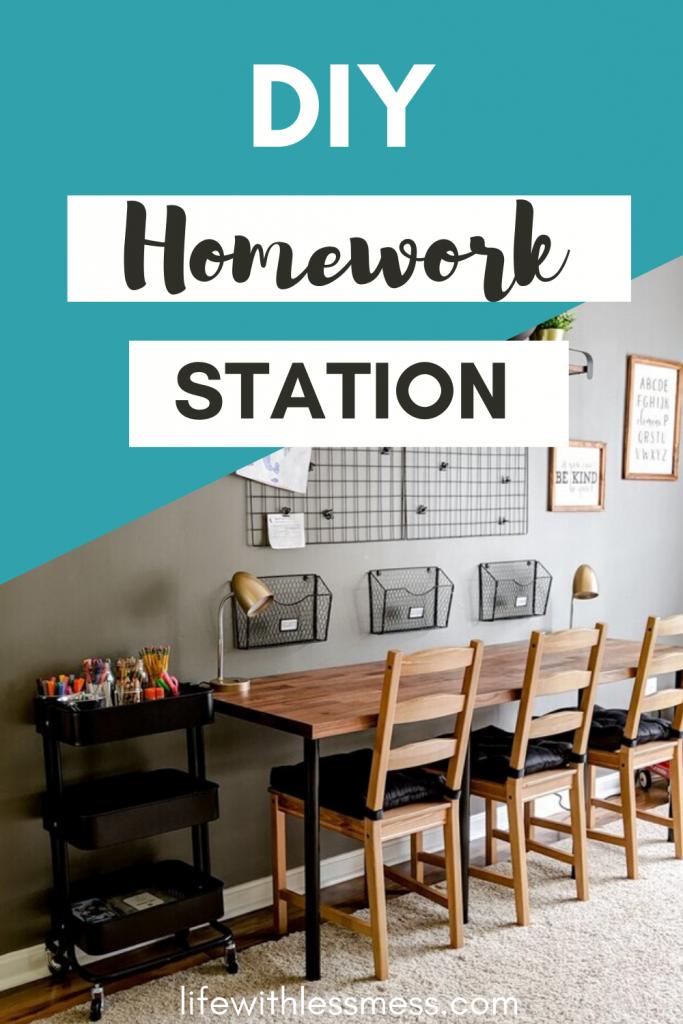 DIY Homework Station. Turning a playroom into a big kids' space.