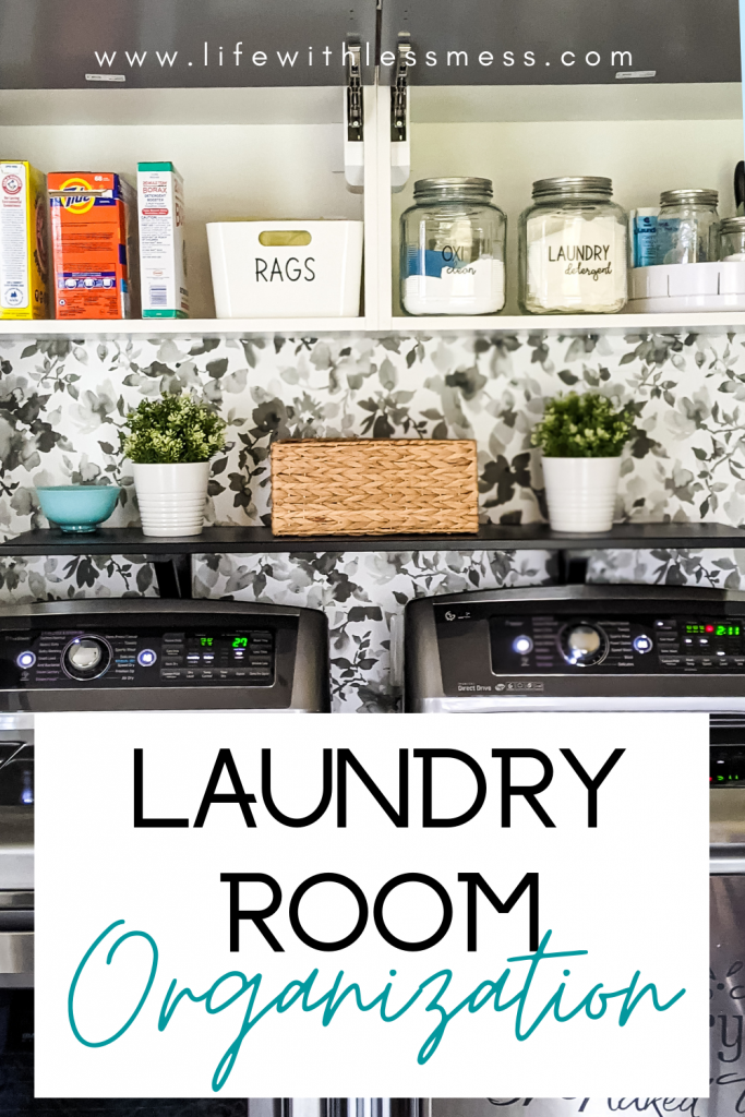 Simple laundry room organization.  Laundry is no fun but at least it can be organized!