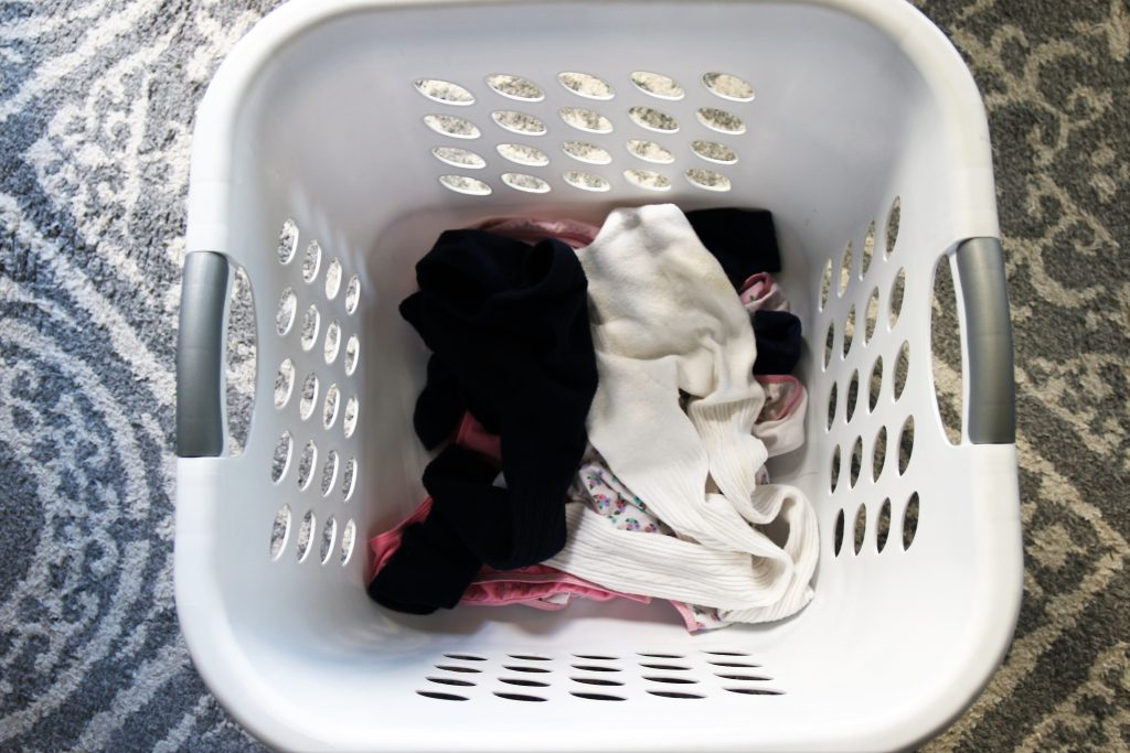 Part of my laundry routine includes not folding socks or underwear. My children can do that.