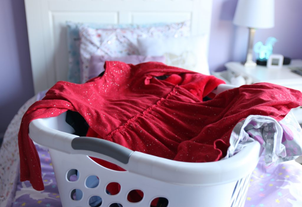 My laundry routine ends with laundry left on my kids' beds.