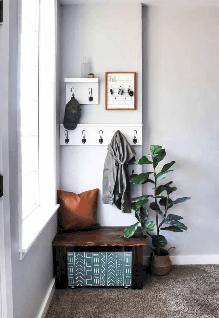 DIY Mudroom Ideas: How about a corner of the living room?