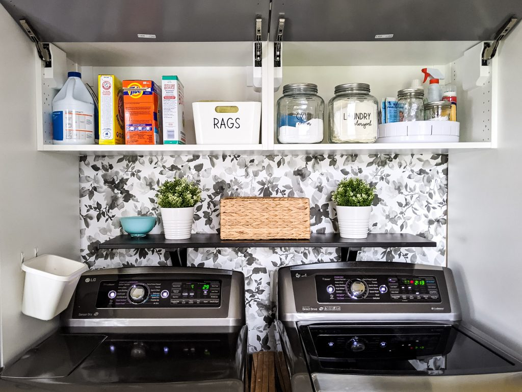 Having an organized laundry room can help you stop being overwhelmed by laundry