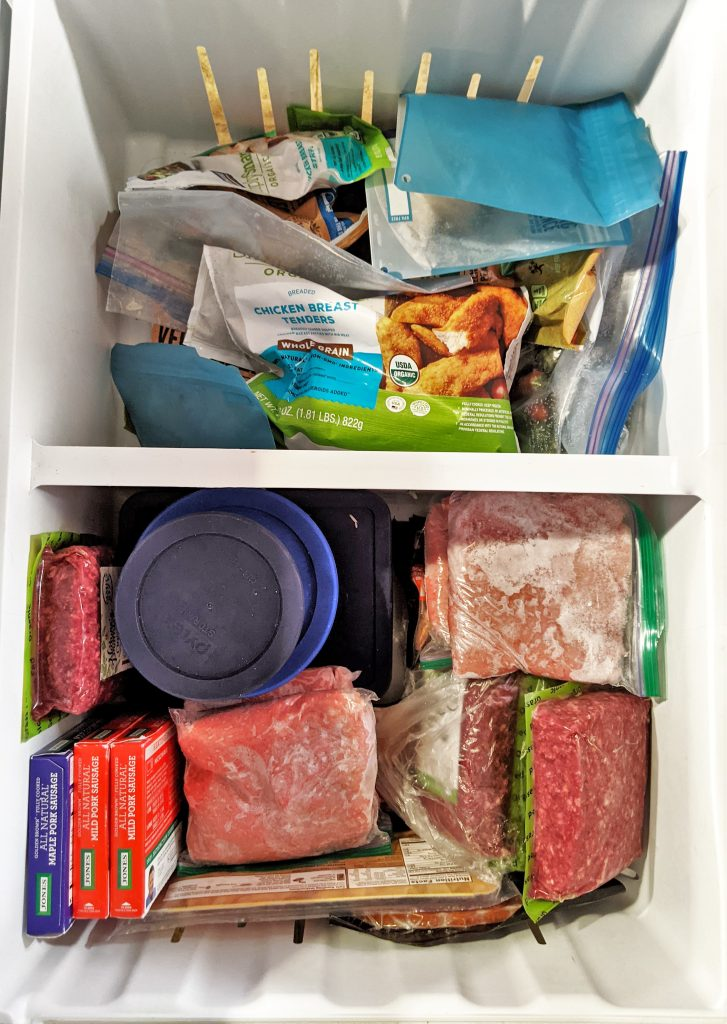 Our January Monthly Meal Plan features a LOT of ground beef and ground turkey — but this freezer will be CLEARED OUT by February!