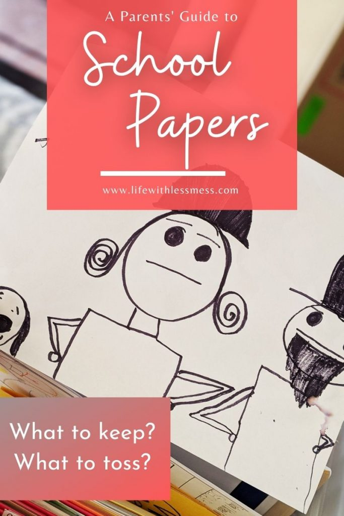 School papers can be overwhelming. This simple guide will help you know what to keep and what to recycle.