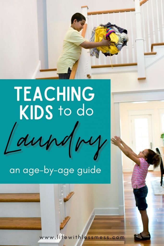 Teaching kids laundry is important. Here's an age-by-age guide on when to introduce different concepts.