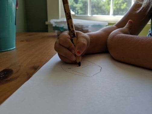Little artists like spaces their size.