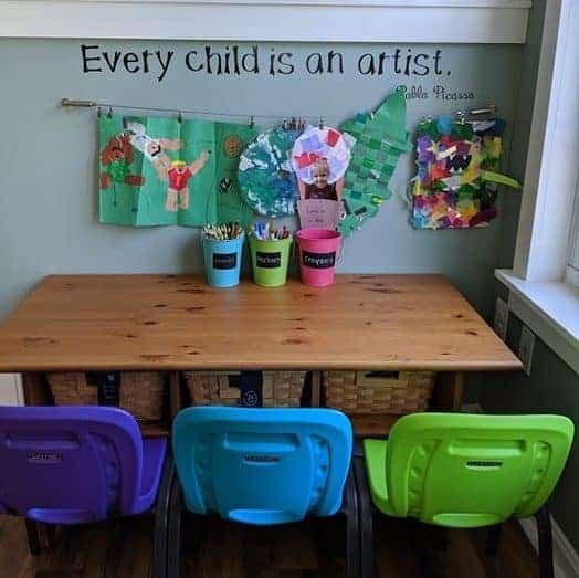 Toddler art table.
