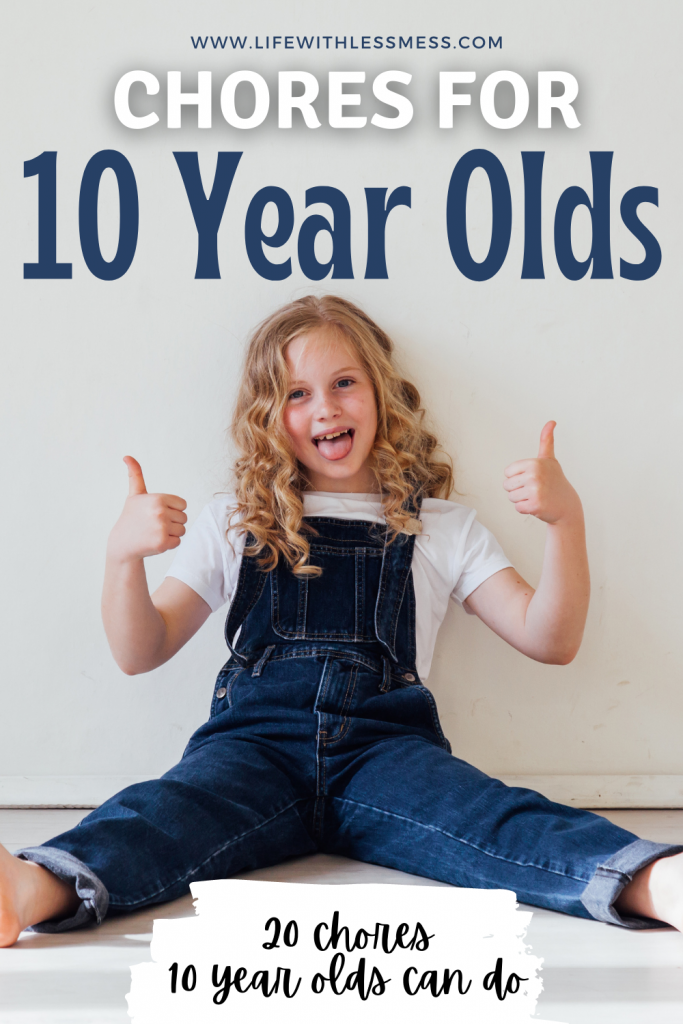 20 Chores for 10 year olds