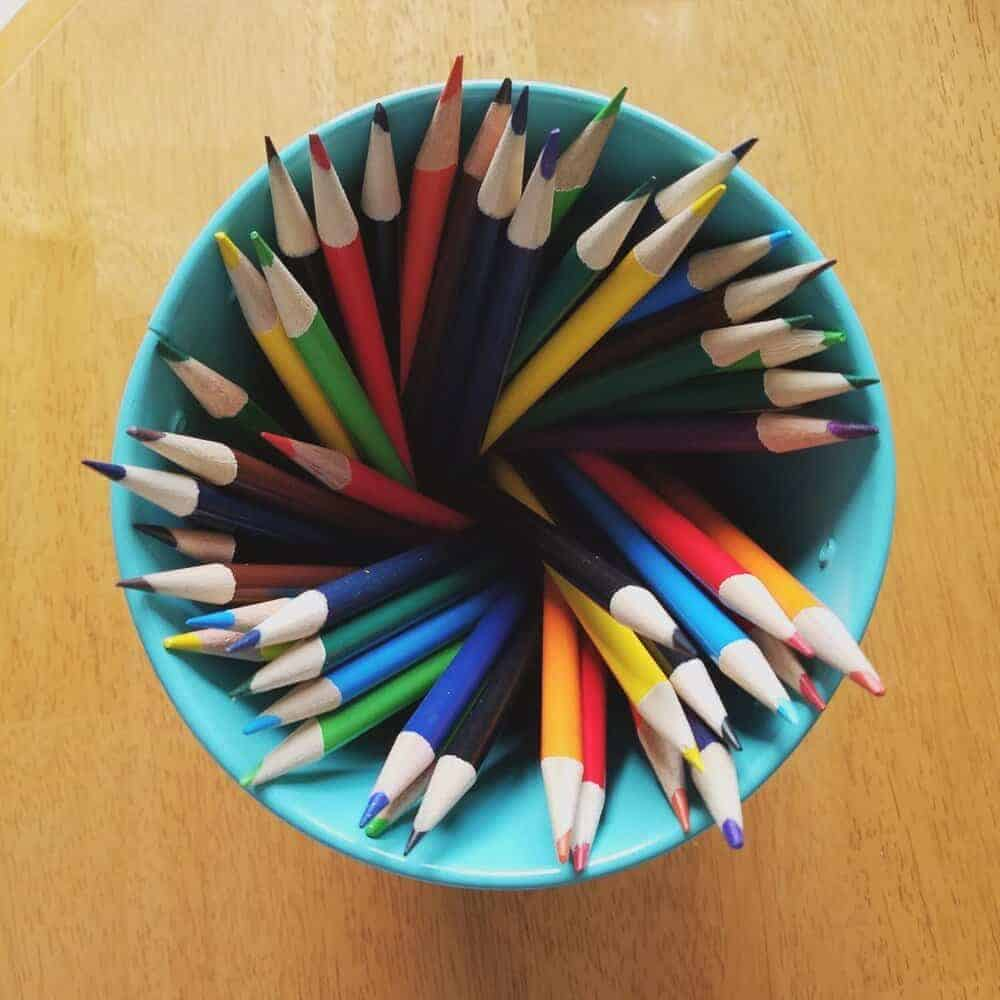 colored pencils  at the art station