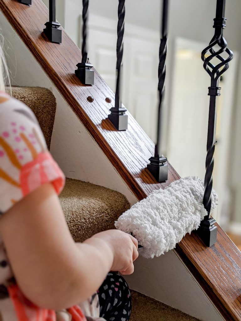 Fun dusters and cleaning supplies can motivate kids to do their chores.