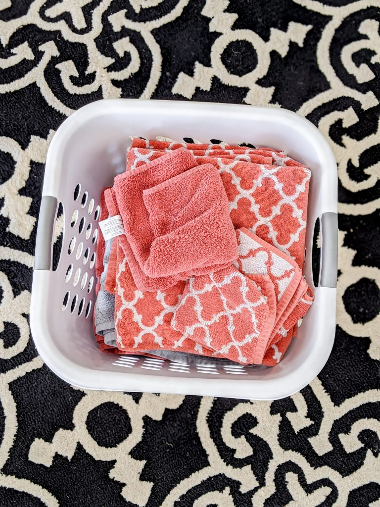 Do not fix the crooked towels, do not fix the crooked towels, do not… don't undermine your kids by fixing their work.