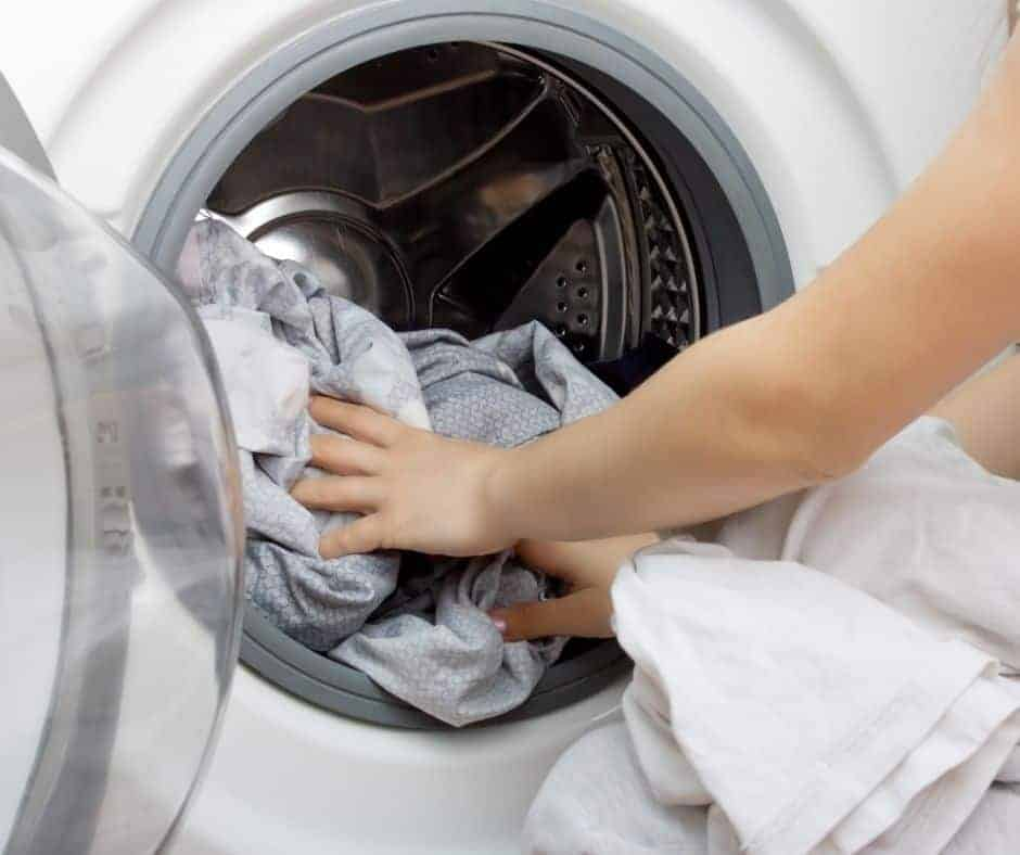 Setting up a laundry routine will help you from being overwhelmed by laundry.