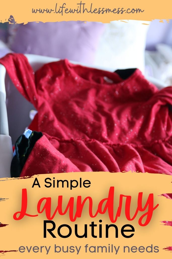 A super simple laundry routine every busy family needs.
