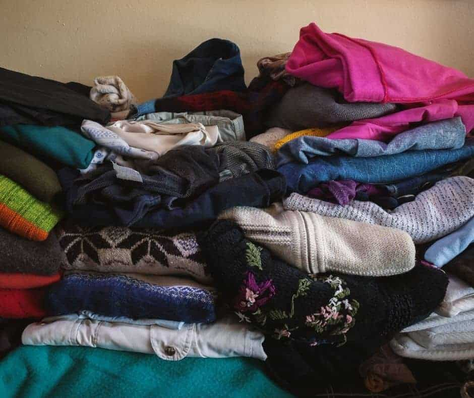 Behind on laundry? Maybe you have too many clothes.