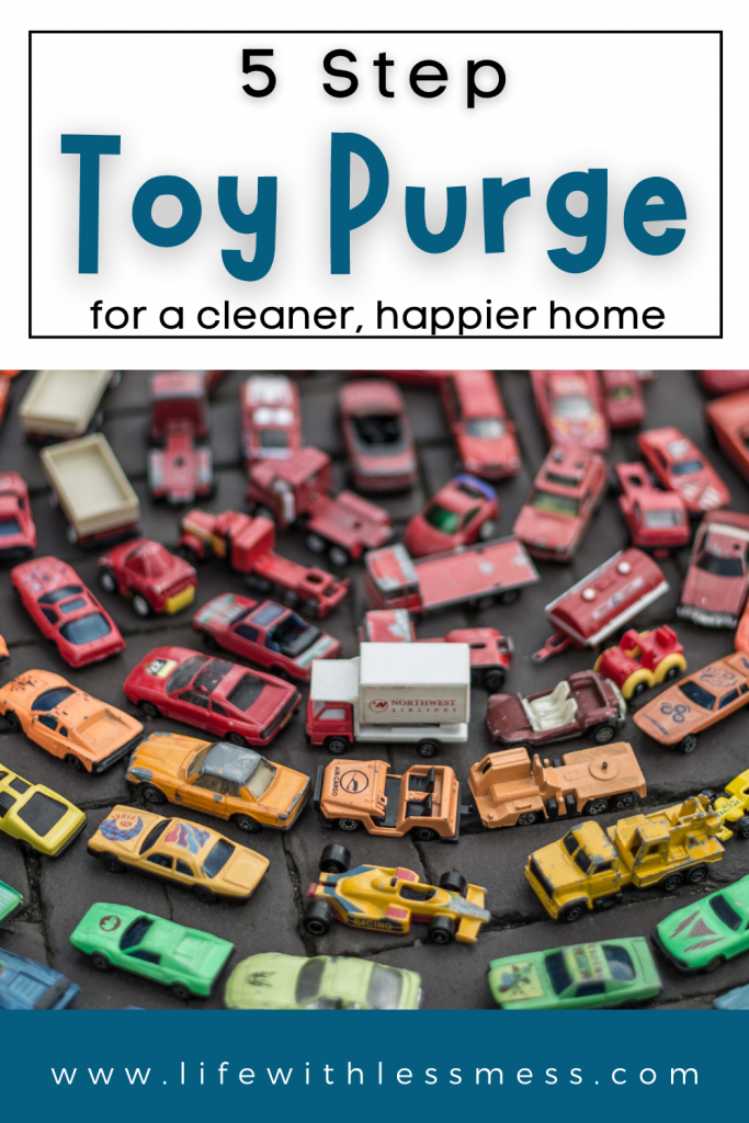 Toy Purge in 5 steps. Get your kids involved and get your space organized!
