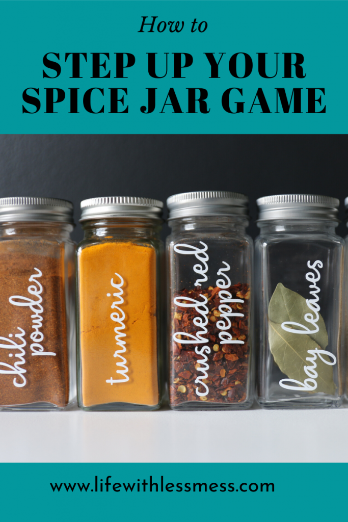 There are many spice jar organization ideas. This one is my favorite.